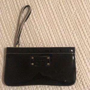 Kate Spade Black Patent Wristlet